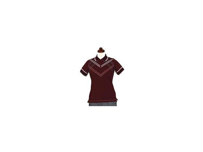 BackTee Cool-Plus golfové tričko - bordo