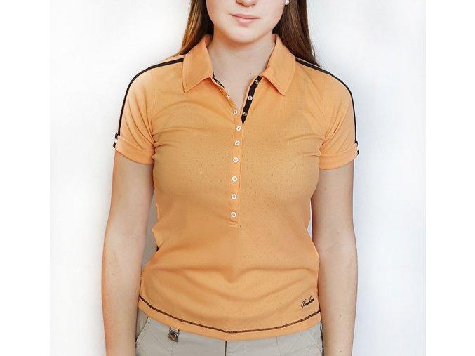 BackTee dámské golfové tričko Quick Dry -broskvové