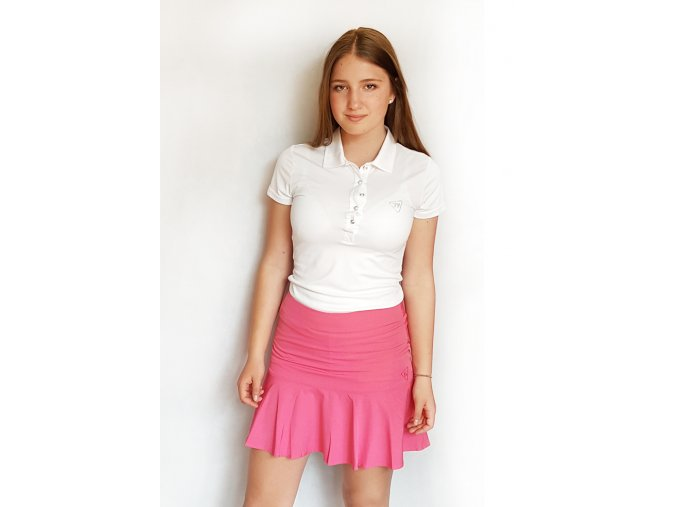 Tony Trevis dámská sukně s volány růžová