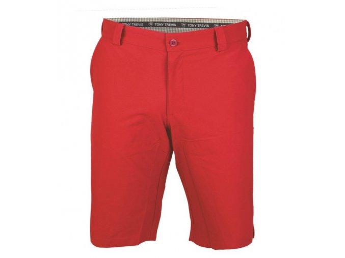 Tony Trevis pánské golfové kraťasy SlimFit červené