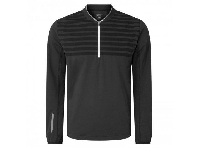 Callaway 1/4 Zipped Ribbed pánská golfová funkční bunda černá