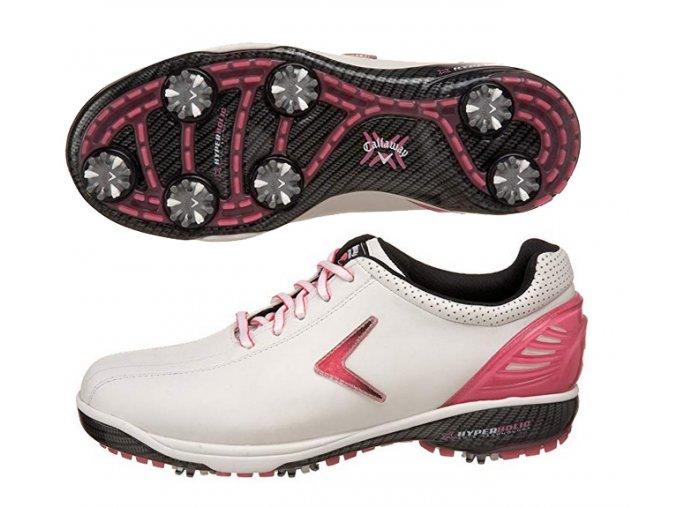 Callaway dámské golfové boty Hyperbolic SL bílo růžové