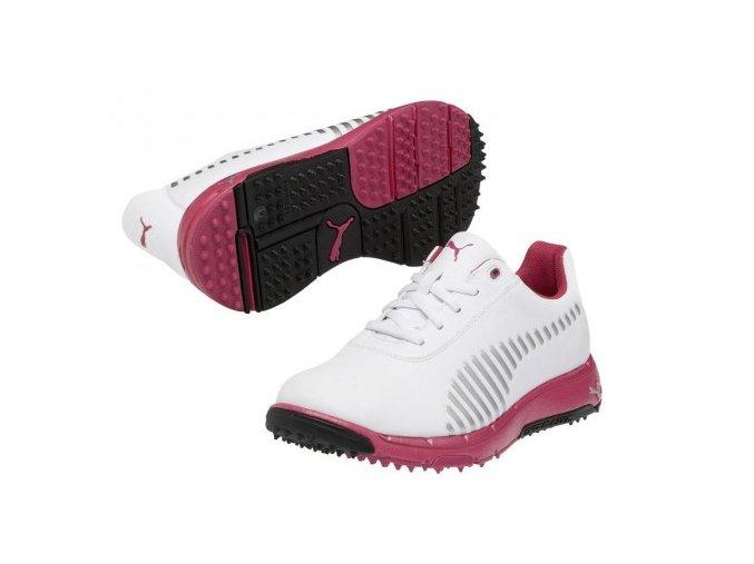 Puma FAAS Grip juniorské golfové boty bílá/růžová