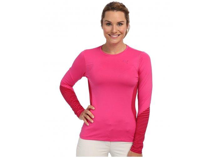 Puma Novelty dámské tričko s dlouhým rukávem růžové