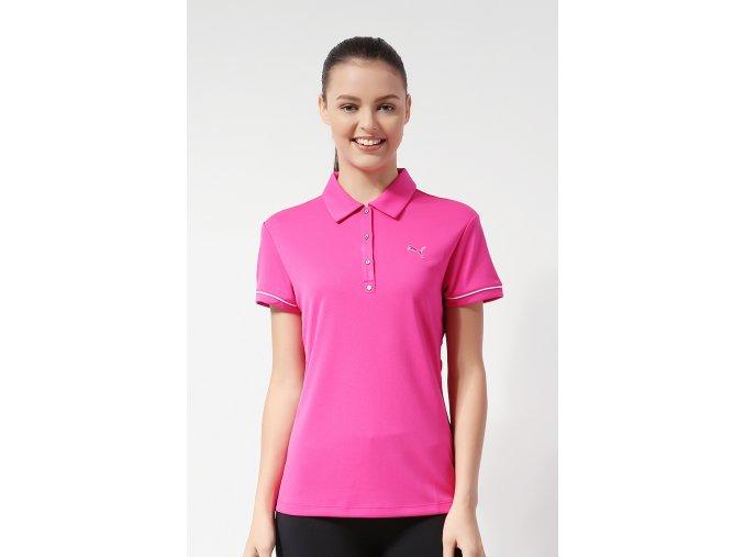 Puma Golf Tech Polo dámské růžové