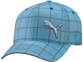 Puma Woven X-Fit cap - modrá s kostkami