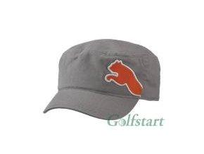 Puma Military golfová čepice šedá - oranžová puma