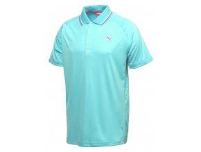 Puma Raglan Lazer pánské golfové tričko světle modré