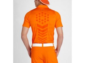 Puma golf Duo-swing mesh golfové tričko Rickie oranžové