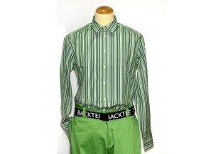 BackTee golfová košile s pruhy -  zelená