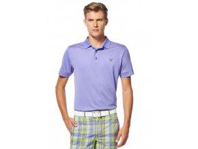 Callaway Solid Stitched pánské golfové tričko fialové