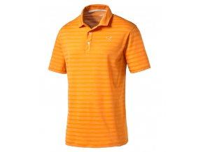 Puma Mixed Stripe pánské golfové tričko oranžové