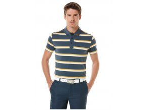 Callaway pánské golfové tričko s pruhy tmavomodré