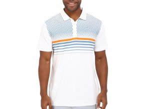 Puma Surface Stripe pánské golfové tričko bílé
