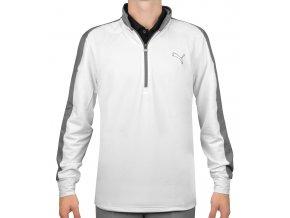 Puma Tech 1/4 Zip Popover golfová mikina bílo šedá