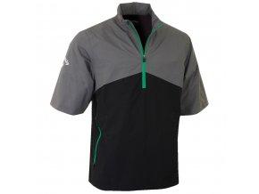 Pánská golfová bunda do deště  Callaway 1/4 Zip šedo/černá