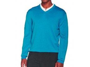 Callaway V-Neck Jersey pánský svetr - nebesky modrá