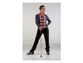 Röhnish dámský golfový svetr tmavošedý s kostkami