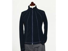 BackTee dámská golfová fleecová bunda - fialovo modrá
