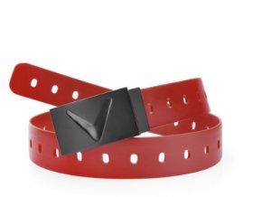 Matte rubber belt red