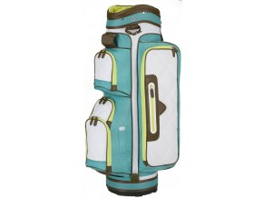 Callaway UpTown cart bag bílo tyrkysový