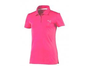 Puma Junior Pounce Polo - juniorské tričko dívčí růžové