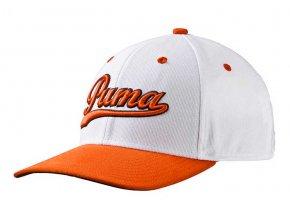 Puma Junior Script Fitted golfová čepice bílo oranžová