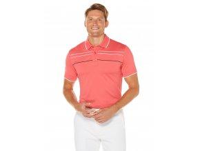 Callaway Chest Piped pánské golfové tričko červené