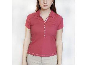BackTee dámské golfové třičko Quick Dry - tm.růžová