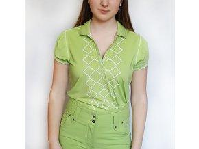 BackTee dámské golfové tričko zelené