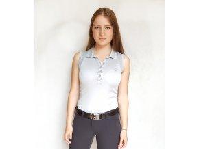 Tony Trevis dámské golfové tričko bez rukávů stříbrné