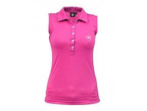 sleeveless polo pink