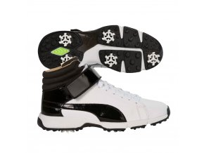 Puma Titan Tour Hi-top juniorské golfové boty bílo/černé