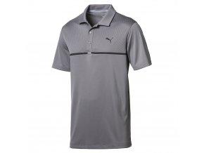 Puma Nardo Grey pánské golfové tričko šedé