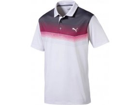 Puma Road Map pánské golfové tričko bílo-červené