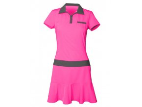 Tony Trevis dámské golfové šaty růžovo černé