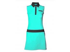 Tony Trevis dámské golfové šaty tyrkysové