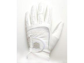 Dámská golfová rukavice Wilson Staff Grip plus bílá