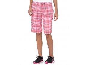 Puma dámské golfové kraťasy kostkované pink