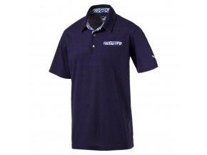 Puma Aloha pánské golfové tričko tmavě modré