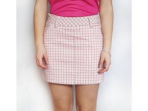 Puma Plaid Skirt dámská golfová sukně růžová kostička
