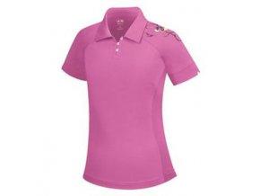 Adidas junior dívčí golfové tričko fialové
