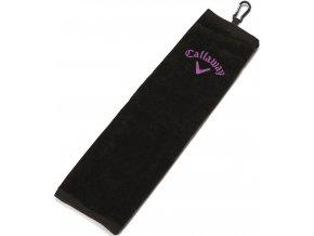 Callaway UpTown tri-fold golfový ručník černý