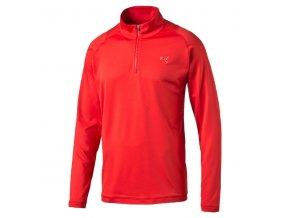 Puma Tech 1/4 Zip Popover golfová mikina červená