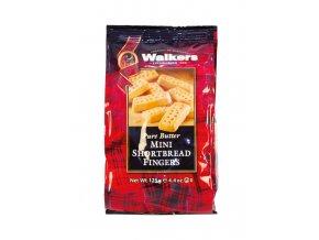 Walkers Mini Fingers klasické skotské máslové sušenky 125g