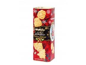 Walkers vánoční tubus s máslovými sušenkami 250g