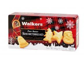 Walkers vánoční máslové sušenky 60g