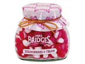 Mrs. Bridges cucavé bonbony Jahody se smetanou 155g