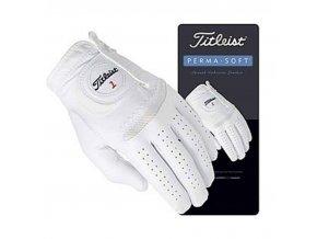 Titleist Permasoft kožená golfová rukavice bílá