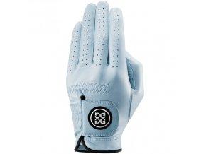Dolce Gabana luxusní dámská kožená golfová rukavice světle modrá LEVÁ L